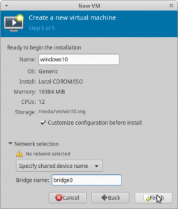 Figure6: Create a virtual machine step 5 - Before installation