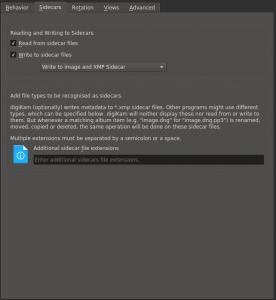 digiKam 5.9.0 metadata settings,